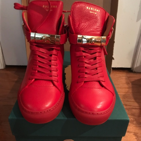 28deb2a2fbd Buscemi Red 100MM Alta sneakers size 8